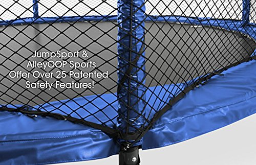 JumpSport 14' StagedBounce | Includes Trampoline and Enclosure | Enjoy Safer Landings with High Bounce Performance | Unforgettable Overlapping Doorway by JumpSport (Image #3)