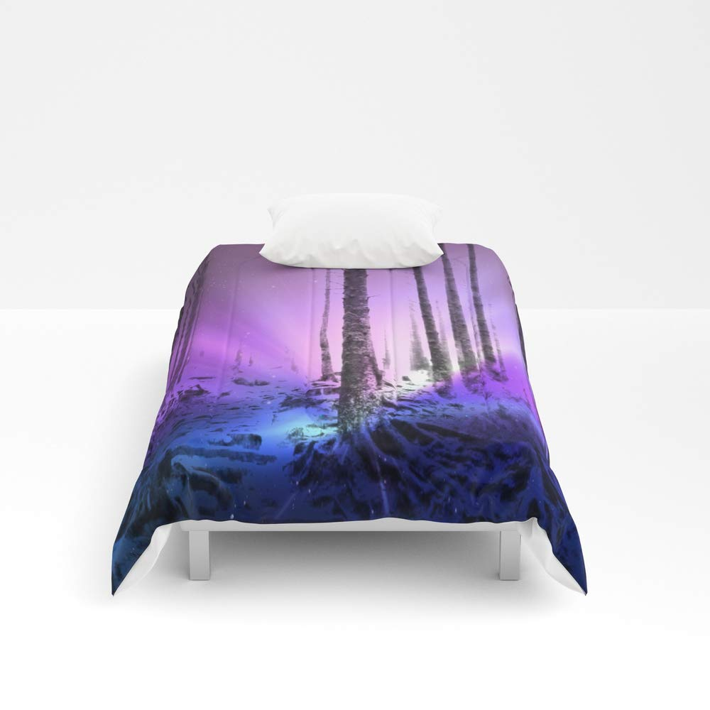 Society6 Comforter, Size Twin XL: 68'' x 92'', Magical Purple Woods by nicnak0x0