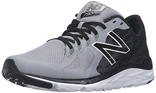 New Balance Mens 790v6 Speed Ride Running Shoe, Acero/negro, 41.5 4E EU/7.5 4E UK