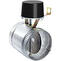 Field Controls GVD-4PL Vent Damper, 4 Pipe Size, 15/16 Clearance, 4-13/16 Exposed Pipe, 6-1/16 Length, 8-7/8 Height