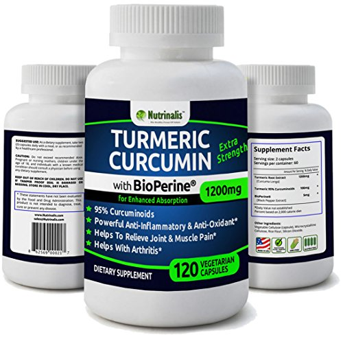 Turmeric Curcumin With BioPerine® (Black Pepper) For High Absorption – 1200mg, 95% Curcuminoids, Extra Strength Supplement, Powerful Anti-Inflammatory & Anti-Oxidant Review