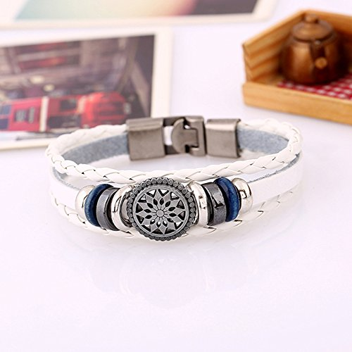 Vintage Hand Made Woven Bracelet (White) - 1