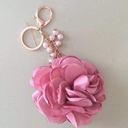 Llavero Rosa Bolso de Mujer Colgante romántico Encanto de ...