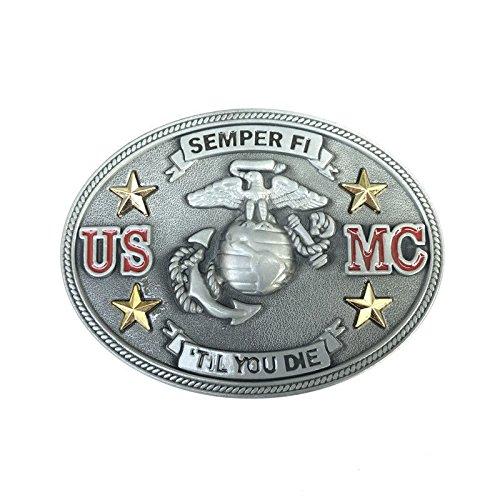 Unique Limited Edition Usmc Military Belt Buckle Vintage Pewter U.S.Marine Corps