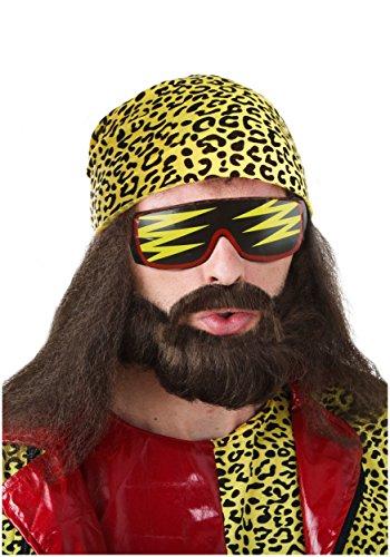 Randy Savage Halloween Costumes - Fun Costumes mens Randy Savage Wig Kit Standard