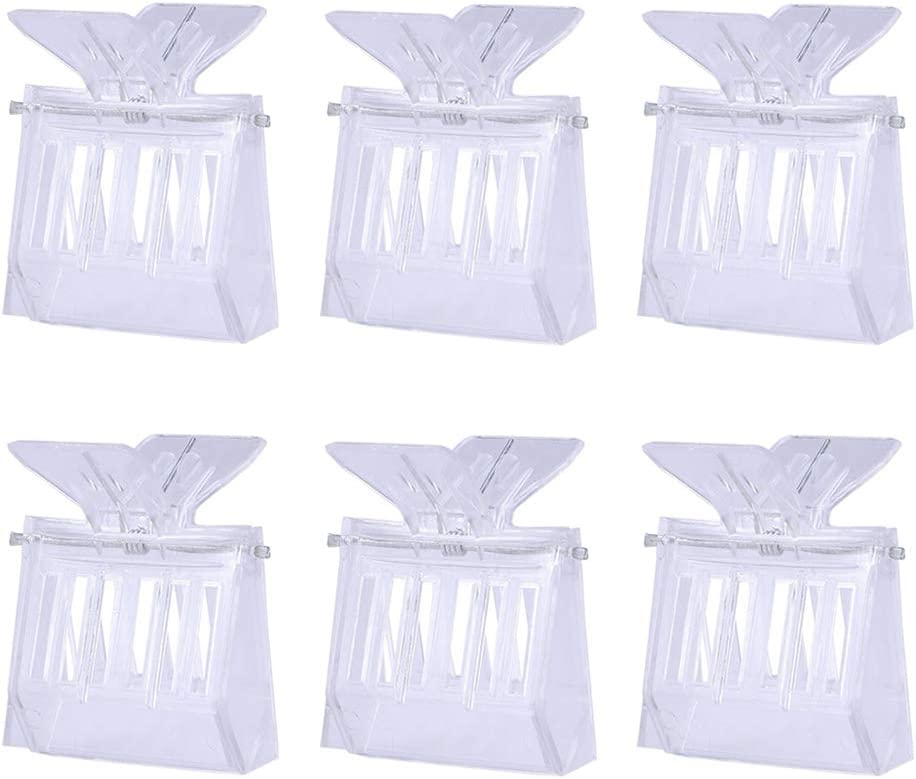 Professional Plastic Beekeeping Clips Beekeeper Tool Swarm Traps for Honeybees Transparent ULTECHNOVO 10pcs Queen Bee Cage Catcher