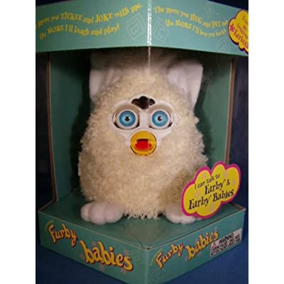 FURBY BABIES CREAM, WHITE FEET AND INNER EARS, CREAM HAIR: Toys & Games