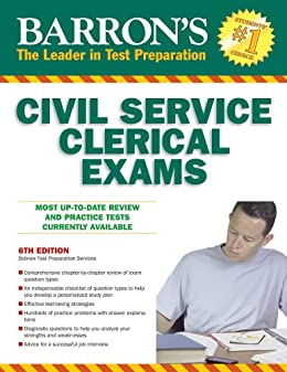 Amazon barrons civil service clerical exam 6th ed ebook barrons civil service clerical exam 6th ed by bobrow test preparation services fandeluxe Image collections