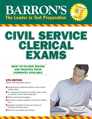 barron s civil service clerical exam barron s the leader in test rh amazon com Clerical Associate HHC Clerical Associate HHC