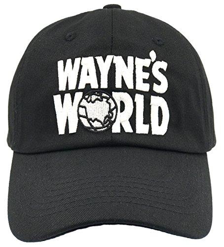 Wayne's World Hat Cap Waynes World Dad Hat Wayne Movie Baseball Cap Black Cotton