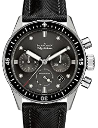 Fifty Fathoms Bathyscaphe Meteor Grey Dial Chonograph Automatic Mens Watch 5200-1110-B52A