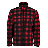 Columbia Men's Steens Mountain Printed Full Zip Fleece Jacket, Bright Red Lumberjack, Large
