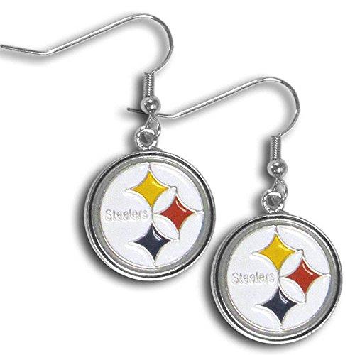- NFL Pittsburgh Steelers Chrome Dangle Earrings