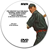 96 GREATEST BASEBALL GAMES EVER PLAYED ON OLD TIME RADIO AND VARIOUS EVENTS DVD-ROM mp3 - Includes 3622 Vintage Baseball Card Pictures