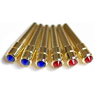WE Games Swarovski Austrian Crystal Cribbage Pegs in Assorted Colors - 6 Pack: Toys & Games