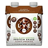 Evolve Real Plant-Powered Protein Shake Classic Chocolate 11fl ozx4 ( total 44 fl oz), pack of 1