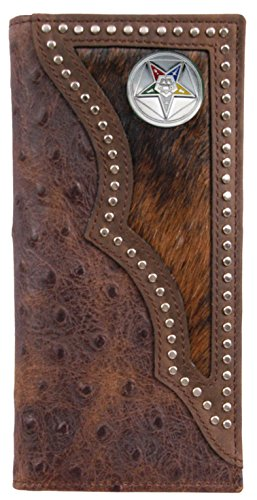 Ostrich Eastern Masonic inlay wallet hair print Star hide and Long with Custom IZFTww