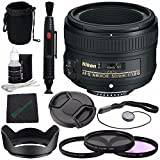Nikon AF-S NIKKOR 50mm f/1.8G Lens + 58mm 3 Piece Filter Set (UV, CPL, FL) + Lens Cap + Lens Hood + Lens Cleaning Pen Bundle