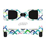 The Vibrant Fun Colored Pattern Hoops Full-Body Wrap Skin Kit for the iiRov HoverBoards and other Scooter (HOVERBOARD NOT INCLUDED)