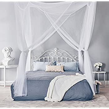 Amazon Com Heavenly 4 Post Bed Canopy Burgundy Home
