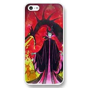A-Lee Customized Disney Cartoon sleeping beauty White Hard Plastic Case for Apple iPhone 5c by ruishername