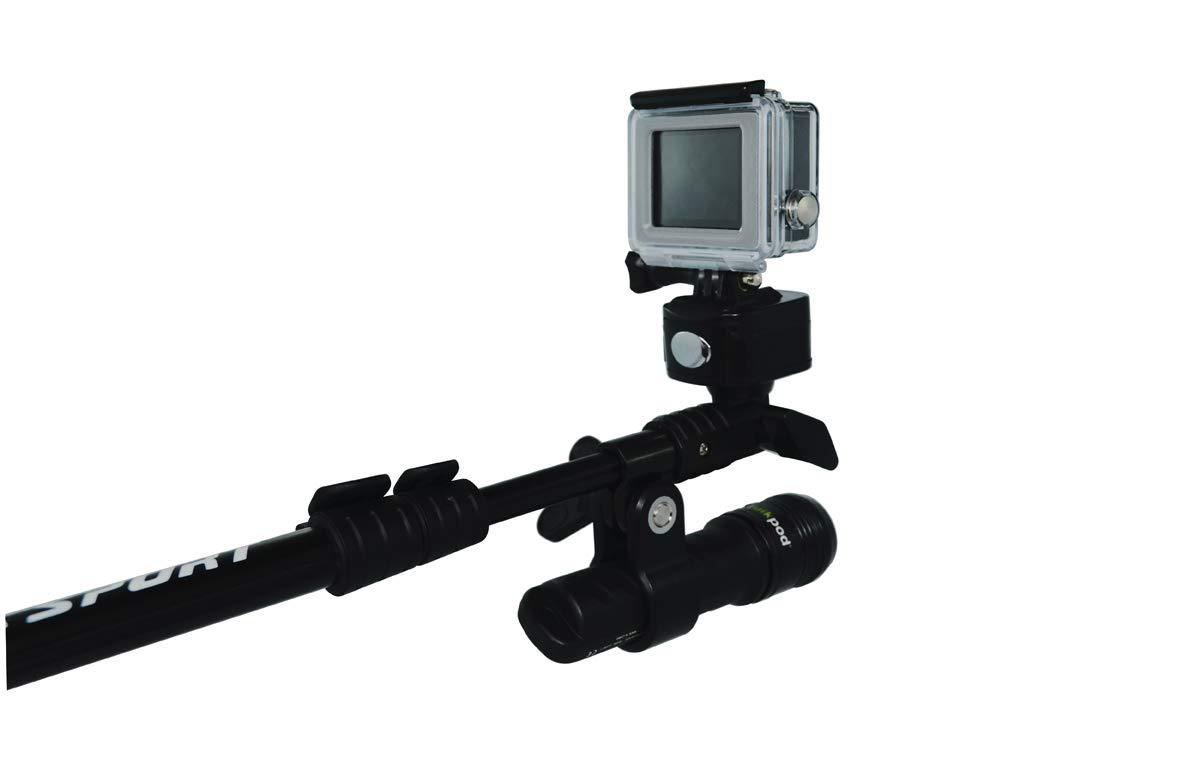 Quik Pod Ultra Divers Bundle, QP 600 Lumens Dive Light and Steel Tripod Legs by Quik Pod