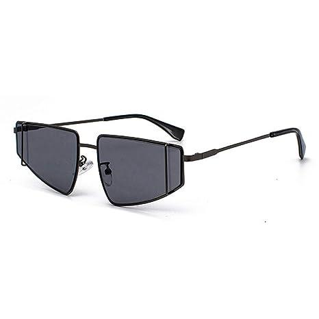 HAOXIONGMAOYI UK Gafas de Sol con Montura pequeña de Metal ...