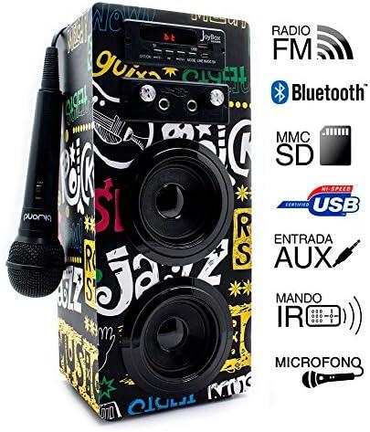 Biwond JoyBox Pocket Altavoz 10W + Micrófono (Bluetooth TWS, Mando IR AUX, Radio FM, Tarjeta SD, USB, Pantalla LED) – Band: Amazon.es: Electrónica