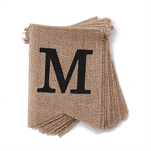 dealzEpic - Rustic Burlap MISS TO MRS Banners | Country Style Bridal Shower/Wedding / Bachelorette/Engagement Party Bunting Decoration Photo Props - Extended Length of 120 -