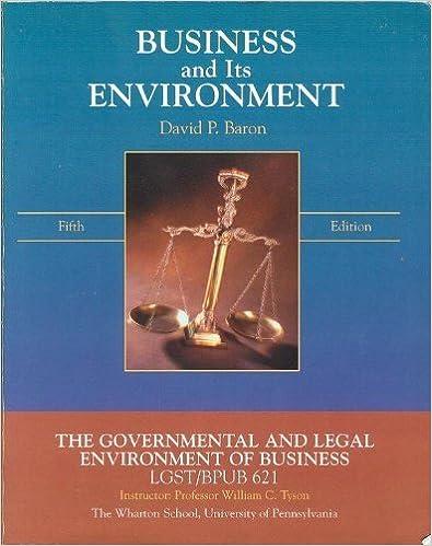 Kostenloser Download im Ebook-Format Business and Its Environment DJVU by David P Baron