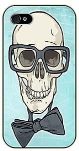 iPhone 4 / 4s Vintage hipster skull - black plastic case / hipster, tribal