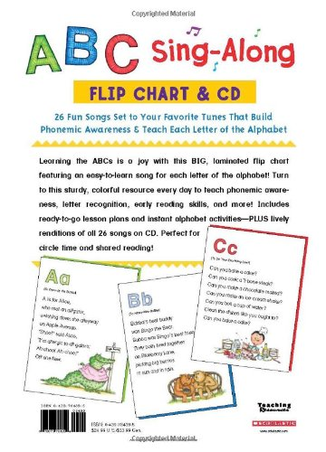 AmazonCom  Scholastic Classroom Resources Abc SingAlong Flip