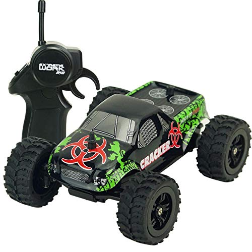 Liobaba 1:32 Full Scale 4CH 2WD 2.4GHz Mini Off-Road RC Racing Car Truck Vehicle High Speed 20km/h Remote Toy for Kids Black
