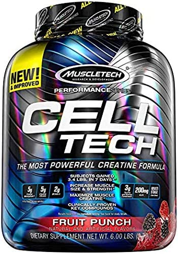 MuscleTech Performance Series Cell-Tech Fruit Punch – 5.95 lbs