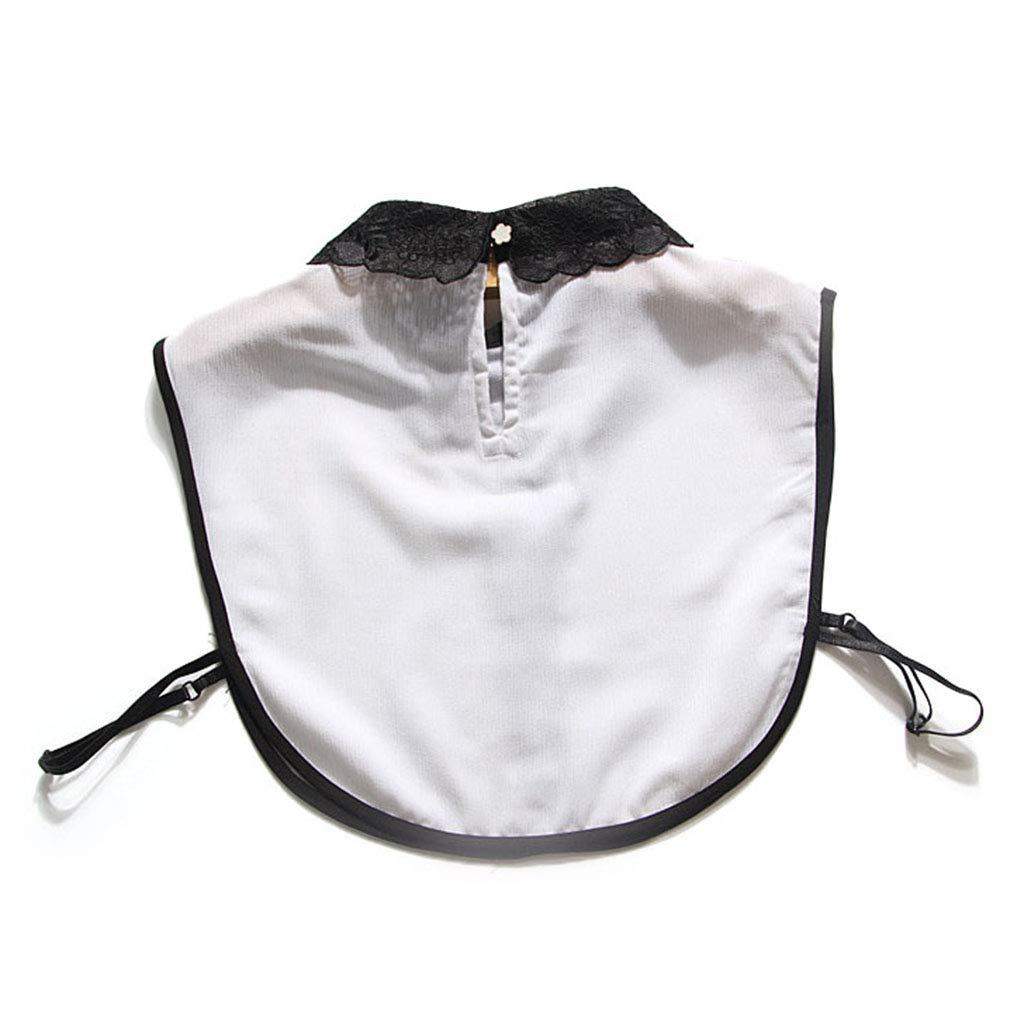 Xuniu Camicia Mezza Manica Finta da Donna Camicetta con Colletto Staccabile Accessori per Risvolti
