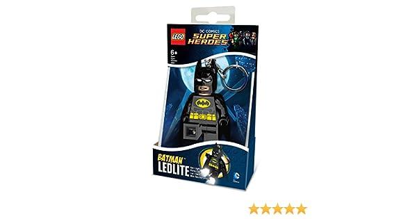 LEGO DC Comics- Llavero con Linterna Súper Héroes: Batman, Color Negro, 10 cm (812752L)