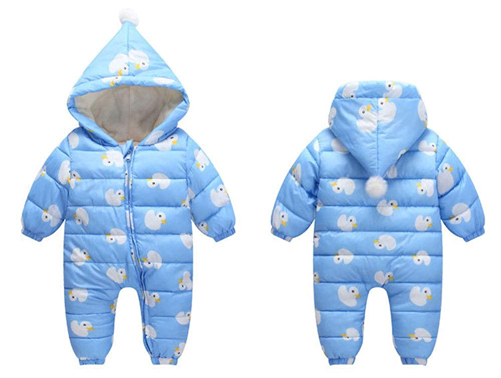 Infant Boy Girls Onesie Romper Baby Cute Duck Pattern Long Sleeve Snowsuit