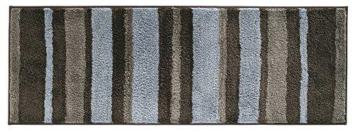mDesign Striped Microfiber Non Slip Bathroom