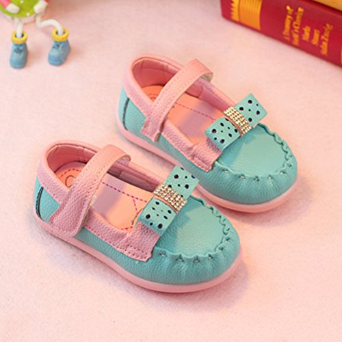 Zhhlaixing Baby Toddler Shoes Walking Flats Child Soft-Soled Shoes Blue