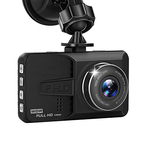 Samjat Dash Cam 1080P Full HD 3'' Car Camera with Wide Angle