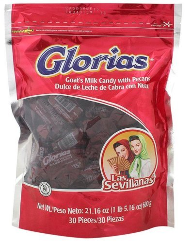 Las Sevillanas Glorias Goat Milk & Pecan Candy ( 30 in a Pack ), 21.16 oz