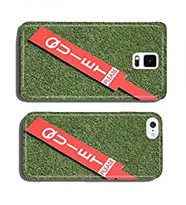 The quiet please sign on green in golf tournament. cell phone cover case Samsung Note 2