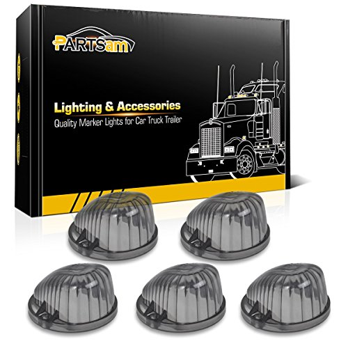 - Partsam 5X Roof Running Top Lamp Smoke 1313S Covers Lens Compatible with Chevrolet/GMC C/K Serie/Suburban 1973-1987 Full Size Pickup Trucks