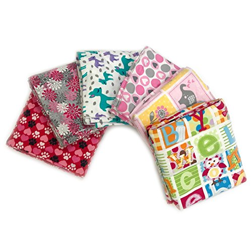 Flannel Fabric Standard Size 6 Pillow Cases, Durable, Super Soft, Random Color, 20