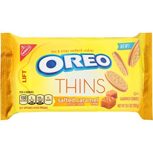 - Oreo Thins Salted Caramel Creme Sandwich Cookies, 10.1 Ounce