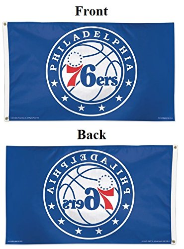 - WinCraft NBA Philadelphia 76ers Deluxe Flag, 3' x 5'