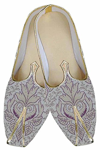 Mens Indian MJ0155 Shoes Designer Wedding Purple INMONARCH dx7wYEE