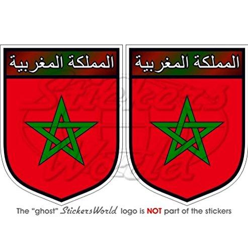 MOROCCO Maroc Moroccan Shield 75mm (3