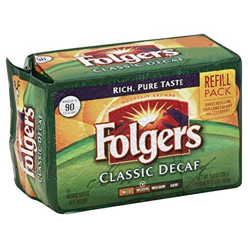 Folgers Classic Decaf Ground Coffee, 11.3 oz