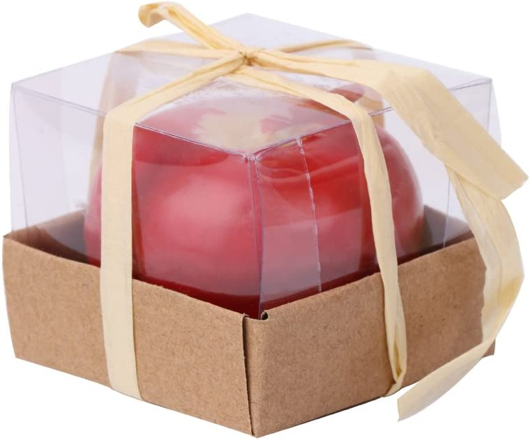 Lipiny Emulational Apple-Shaped Fragrant Candle Christmas' Eve Parties Gifts Small Size
